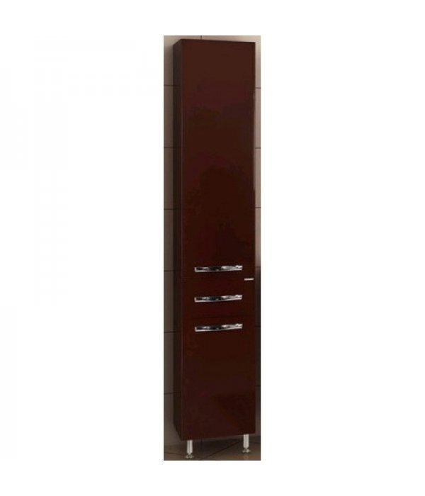 Шкаф-пенал для ванной Акватон Ария Н 35 темно-коричневый