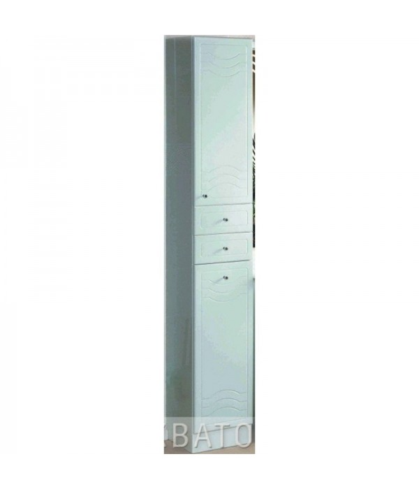 Шкаф-пенал для ванной Акватон Домус 33 с бельевой корзиной