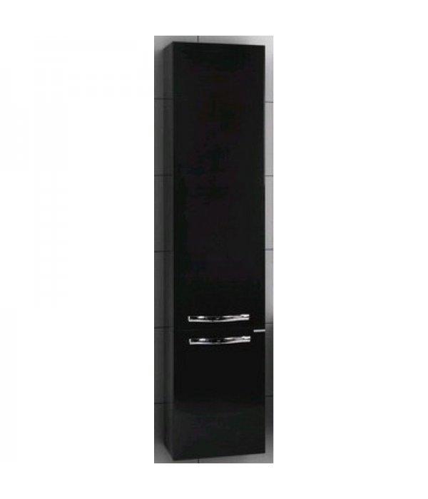 Шкаф-пенал подвесной для ванной Акватон Ария 35 черный глянец