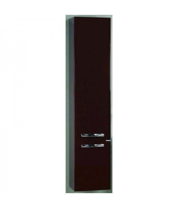 Шкаф-пенал подвесной для ванной Акватон Ария 35 темно-коричневый