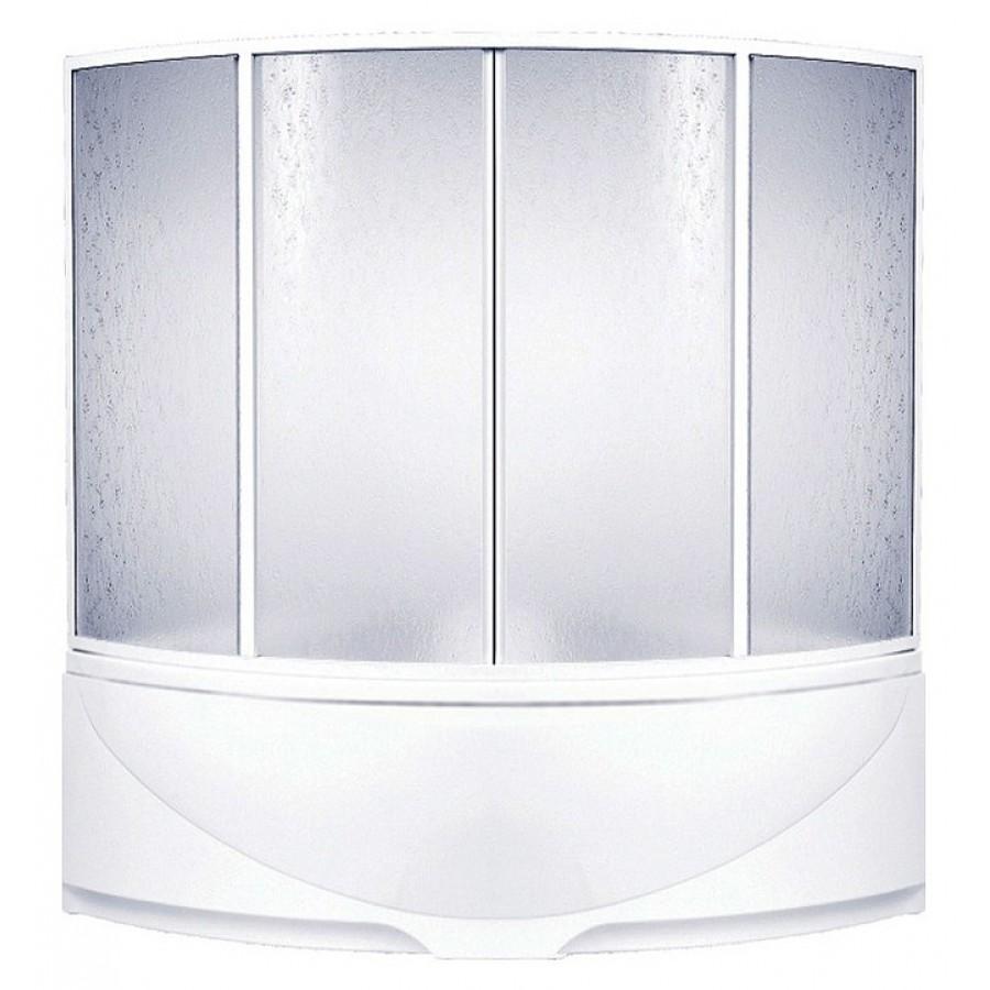Шторка на ванну Bas Империал, Ирис 4 ств., пластик