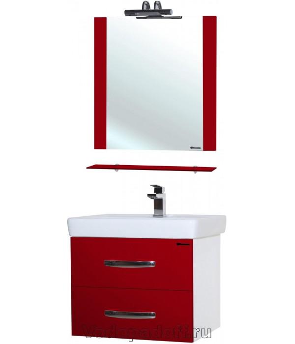 Комплект мебели Bellezza Рокко 50 подвесная красный