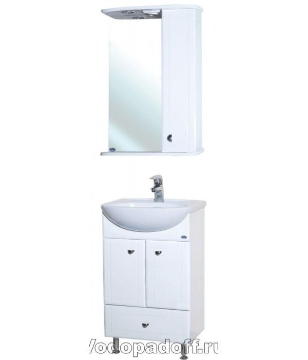 Комплект мебели Bellezza Уют 50 с нижним ящиком, белый