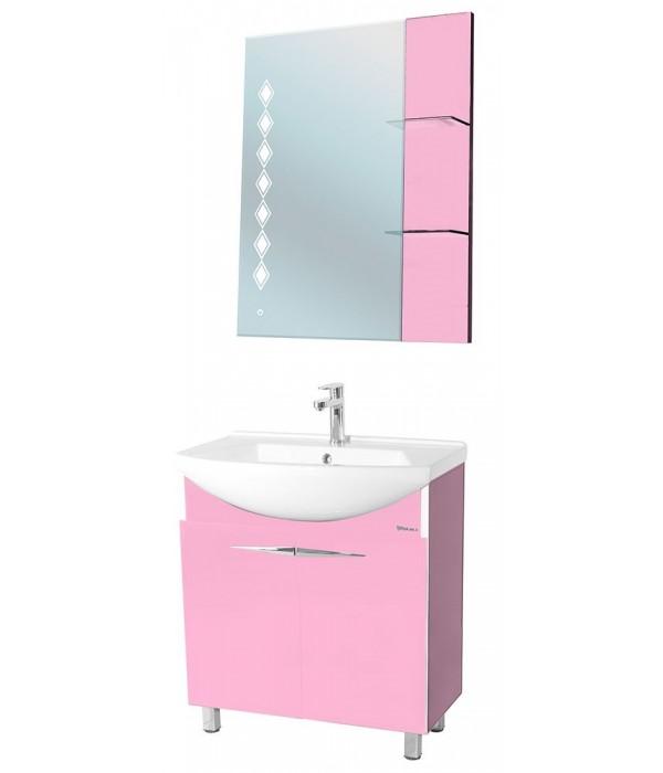 Комплект мебели Bellezza Глория Гласс 75, розовый
