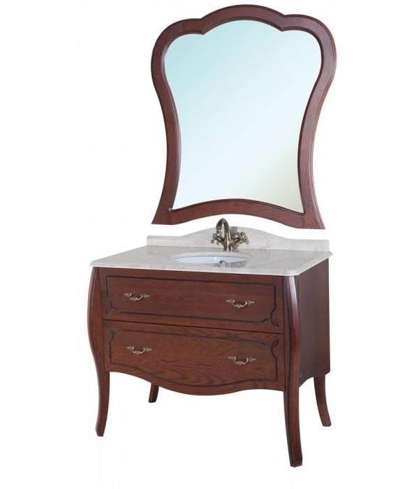 Комплект мебели Bellezza Грация Люкс 90, коричневый