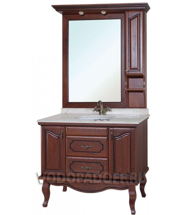 Комплект мебели Bellezza Рим 110, коричневый