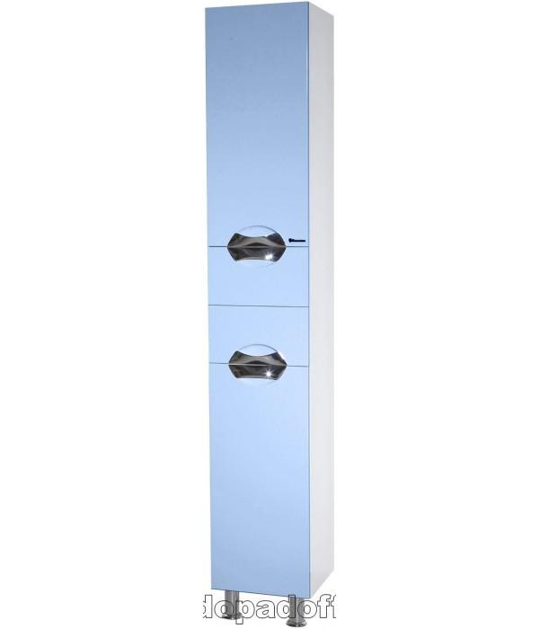 Пенал Bellezza Белла 35 Люкс с бельевой корзиной, голубой