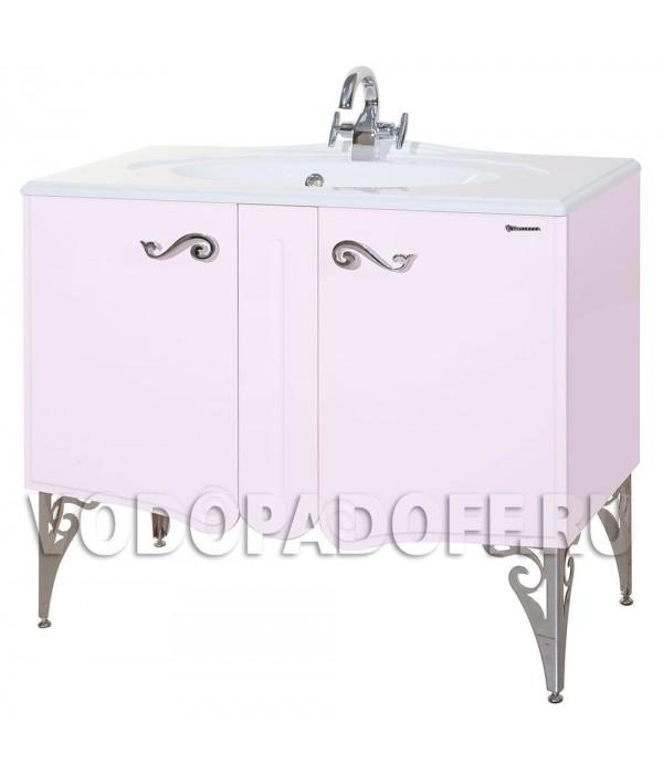 Тумба с раковиной Bellezza Эстель 100, розовый