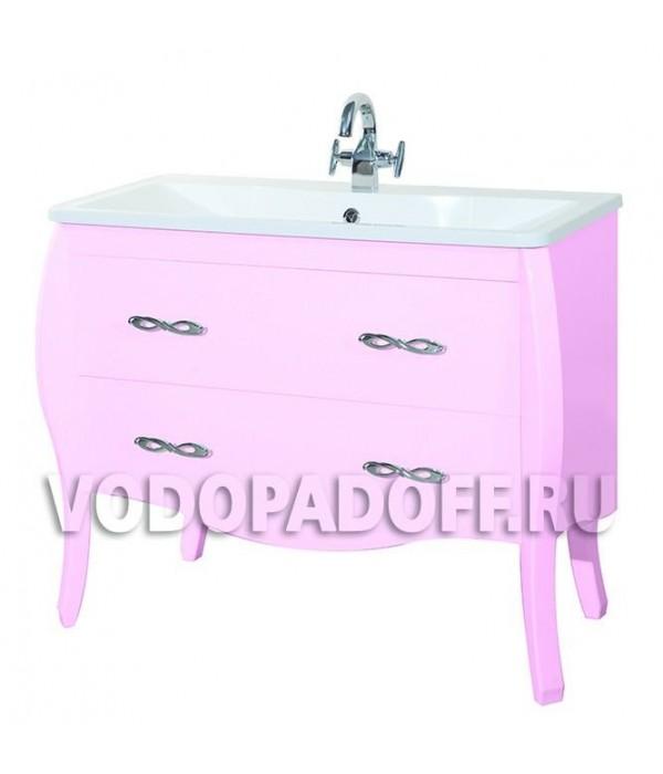Тумба с раковиной Bellezza Грация 100, розовый