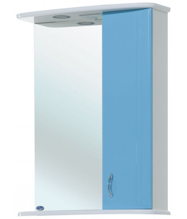 Зеркало-шкаф для ванной Bellezza Астра 50, голубой