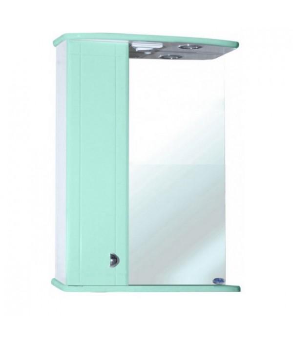 Зеркало-шкаф для ванной Bellezza Астра 50, салатовый