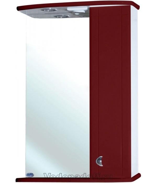 Зеркало-шкаф для ванной Bellezza Астра 50, бордовый