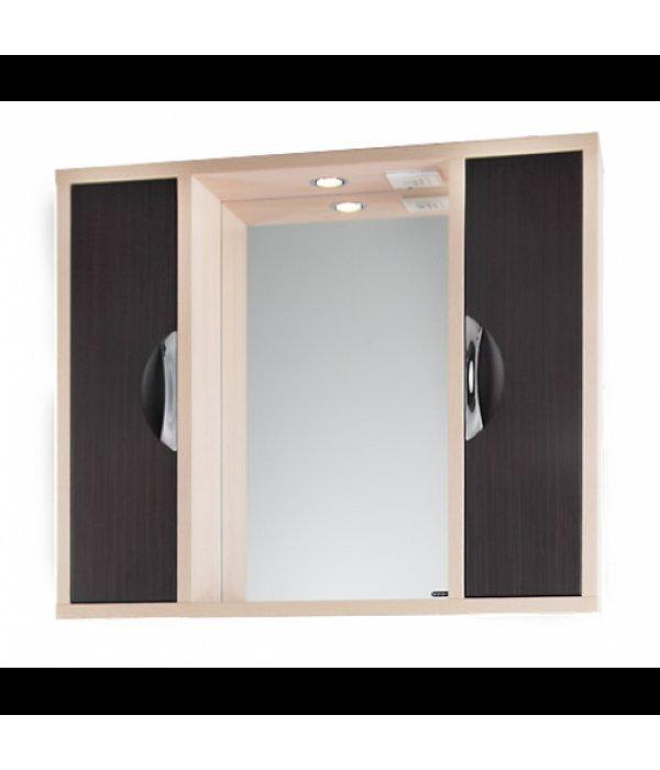 Зеркало для ванной 120 1.9, венге/дуб