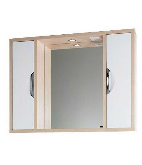 Зеркало для ванной 120 1.9, белый/дуб