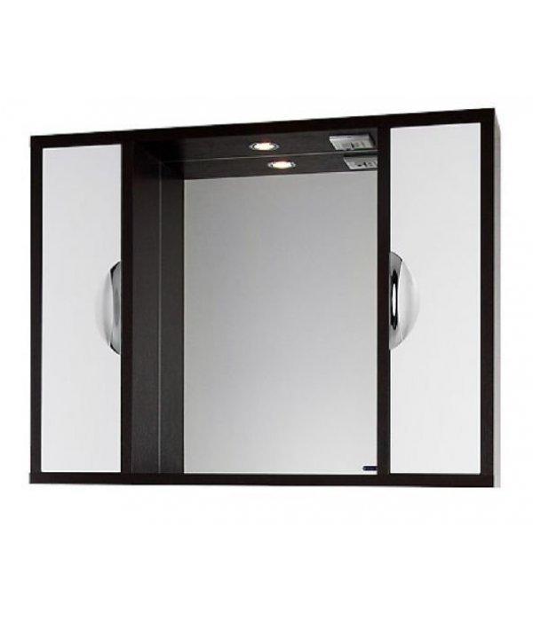 Зеркало для ванной 120 1.9, венге/белый