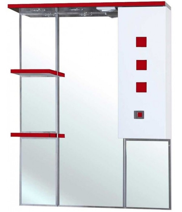 Зеркало-шкаф Bellezza Натали 80, красный
