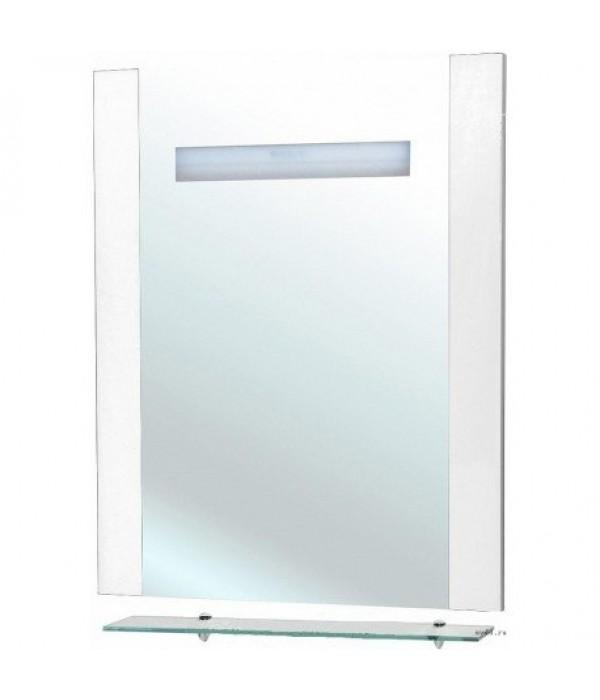 Зеркало Bellezza Берта 60 с полкой белое