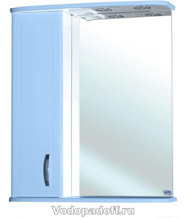 Зеркало-шкаф Bellezza Астра 60, голубой