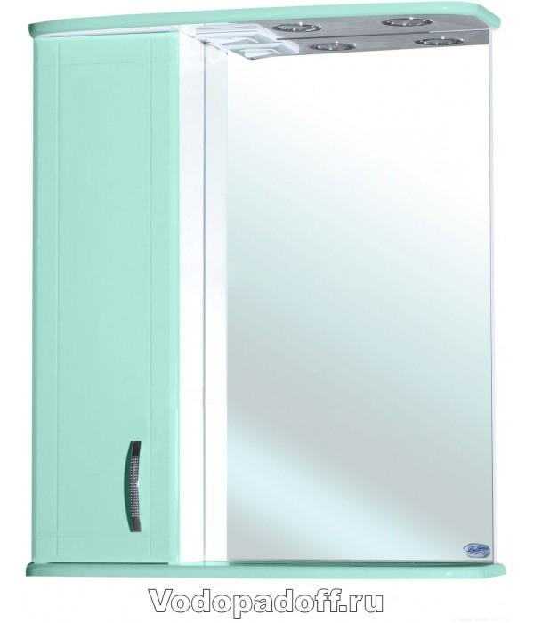 Зеркало-шкаф Bellezza Астра 60, салатовый