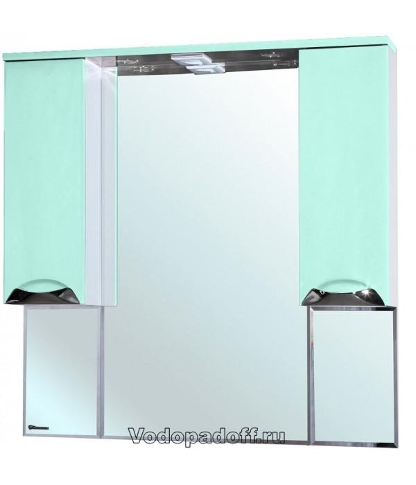 Зеркало-шкаф Bellezza Белла 105 люкс, салатовый