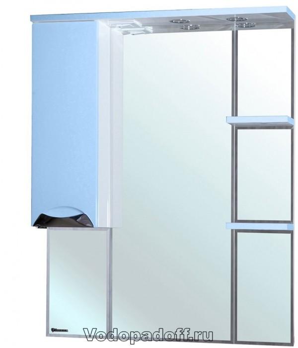 Зеркало-шкаф Bellezza Белла 85 люкс, голубой
