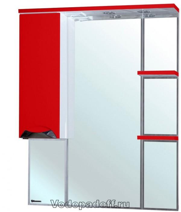 Зеркало-шкаф Bellezza Белла 85 люкс, красный