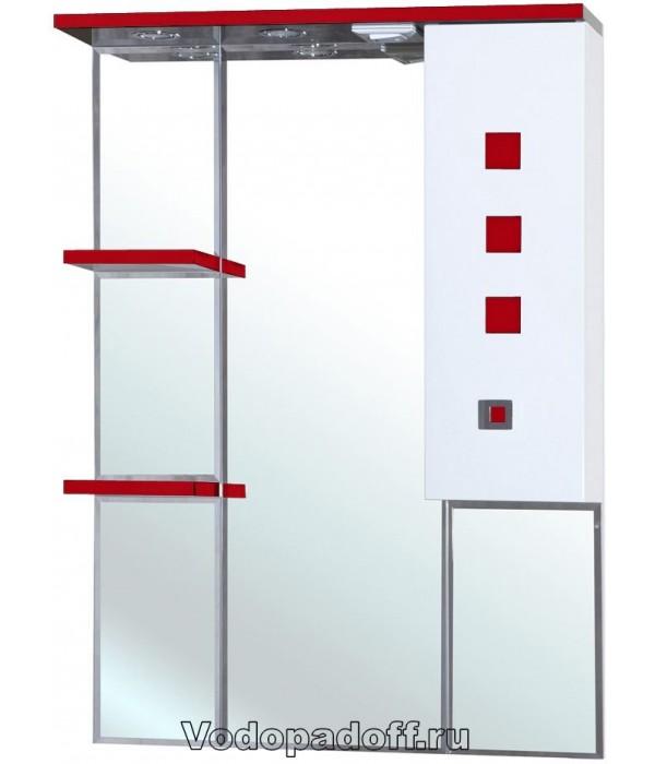 Зеркало-шкаф Bellezza Натали 70, красный