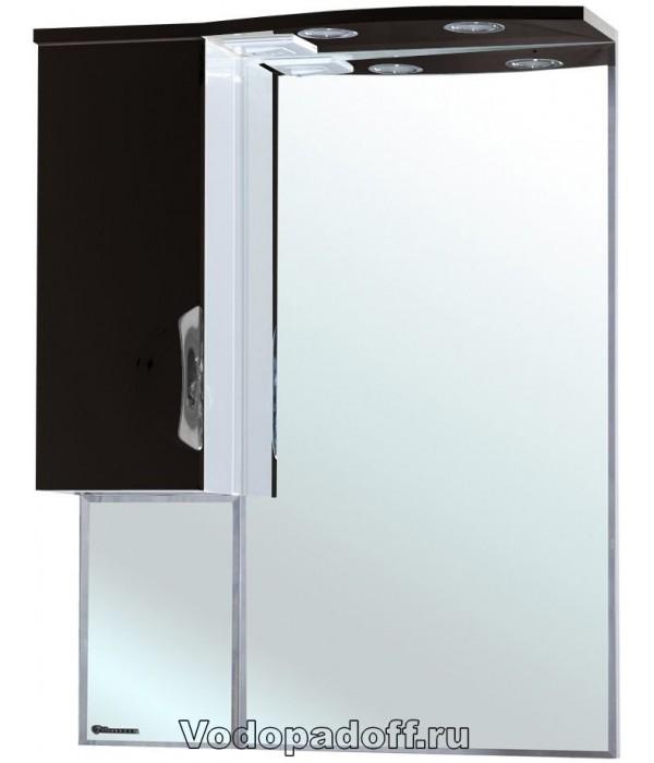 Зеркало-шкаф Bellezza Лагуна 65, черный