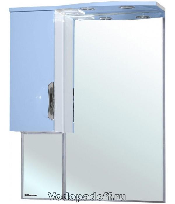 Зеркало-шкаф Bellezza Лагуна 65, голубой