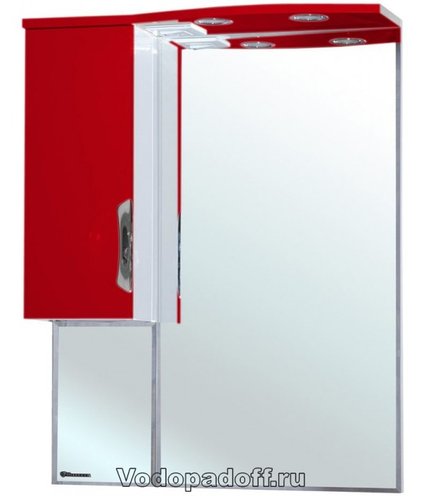 Зеркало-шкаф Bellezza Лагуна 65, красный