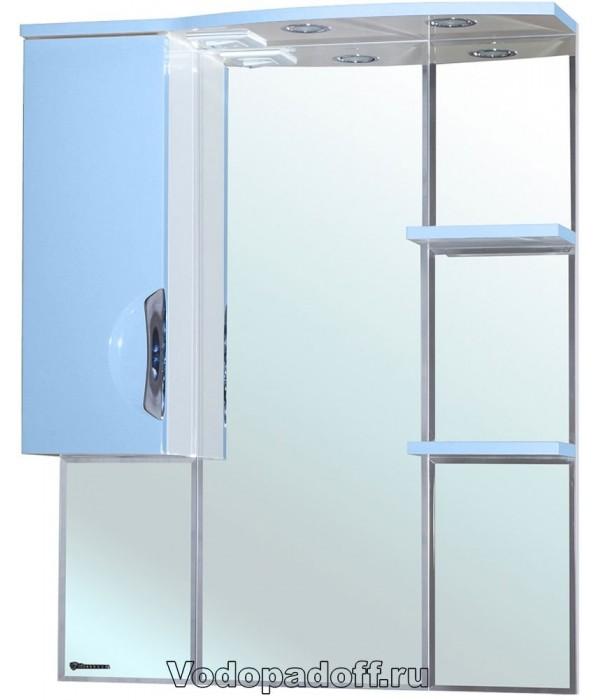 Зеркало-шкаф Bellezza Лагуна 75, голубой