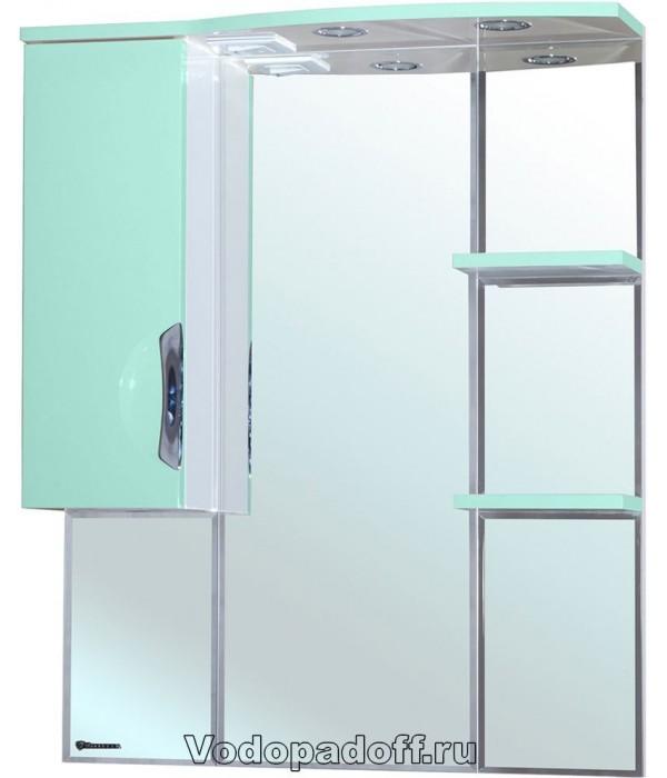 Зеркало-шкаф Bellezza Лагуна 75, салатовый
