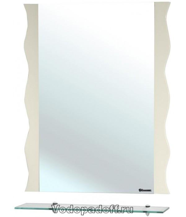 Зеркало Bellezza Мари 60 волна, бежевый