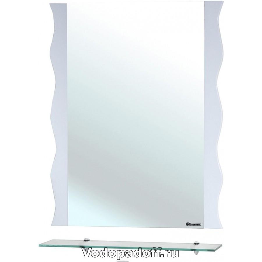 Зеркало Bellezza Мари 60 волна, белый