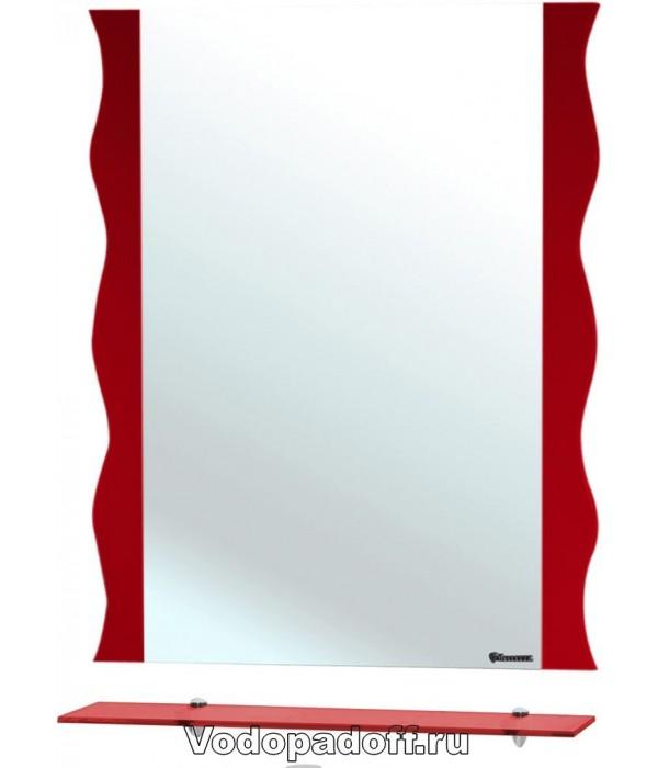Зеркало Bellezza Мари 60 волна, красный