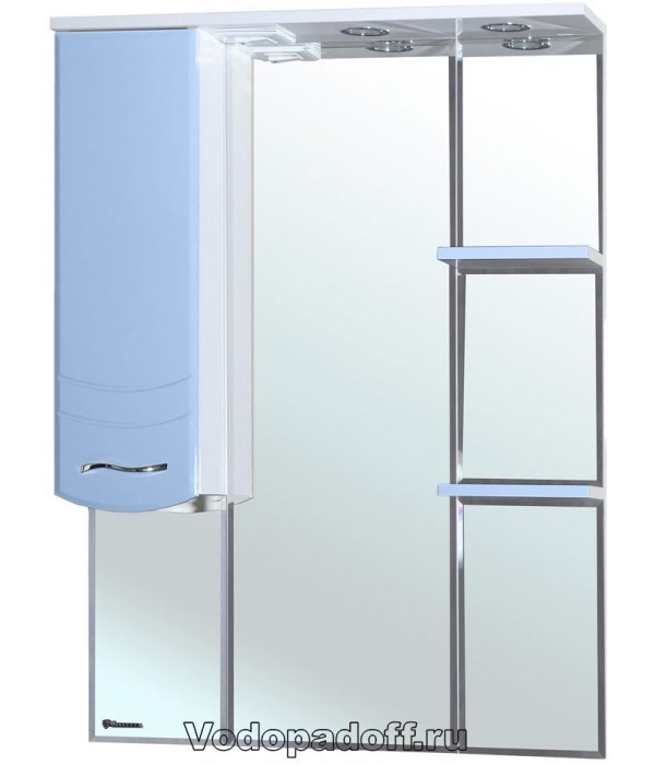 Зеркало-шкаф Bellezza Мари 75, голубой