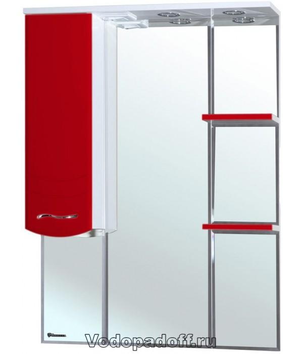 Зеркало-шкаф Bellezza Мари 75, красный