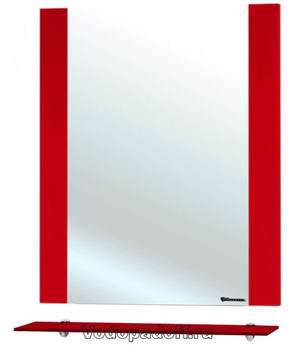 Зеркало Bellezza Рокко 60, красный