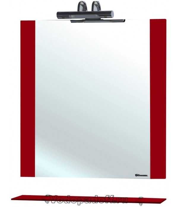 Зеркало Bellezza Рокко 50, красный