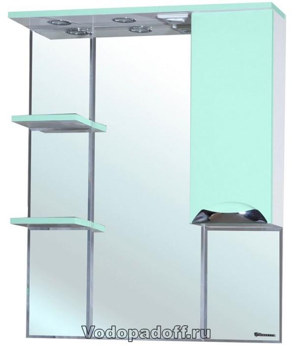 Зеркало-шкаф Bellezza Симона 75, салатовый