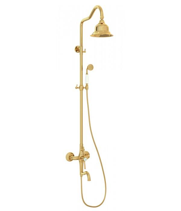 Душевая система Bennberg 160717 Золото с Кристалом