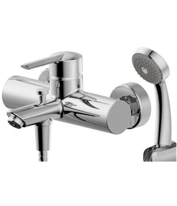 Смеситель Bravat Varuna F6134187CP-B для ванны с душевым гарнитуром
