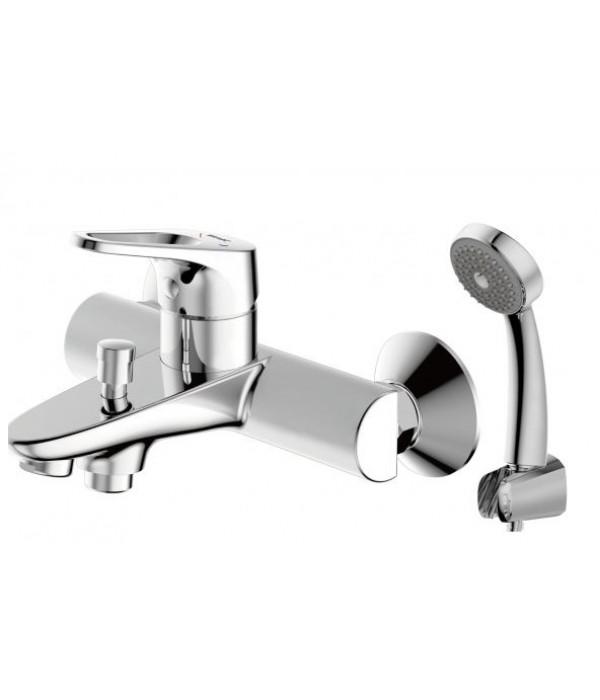Смеситель Bravat Drop-D F648162C-B для ванны с душевым гарнитуром