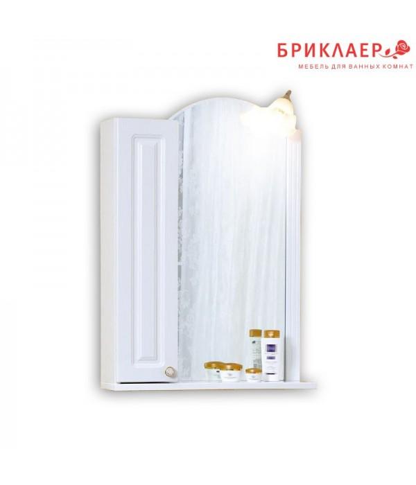 Зеркальный шкаф Бриклаер Анна 60, белый
