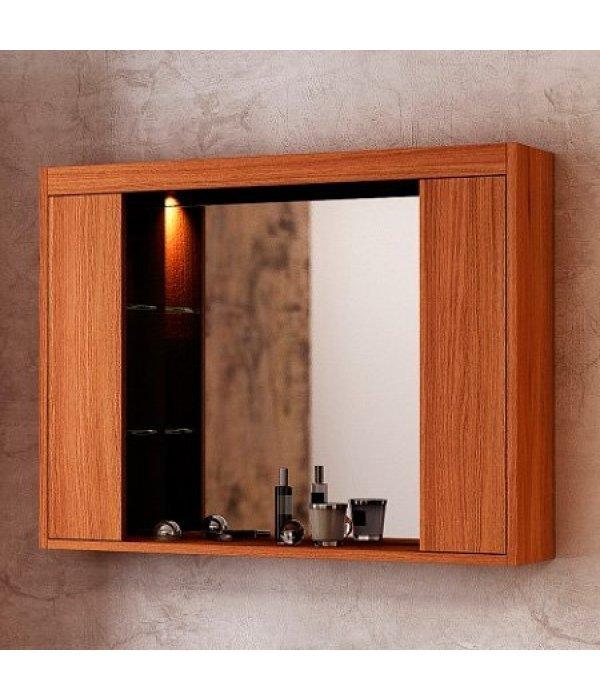Зеркало-шкаф EcoGreen Эллис 85, коричневый