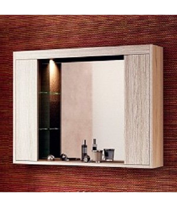 Зеркало-шкаф EcoGreen Эллис 85, дуб