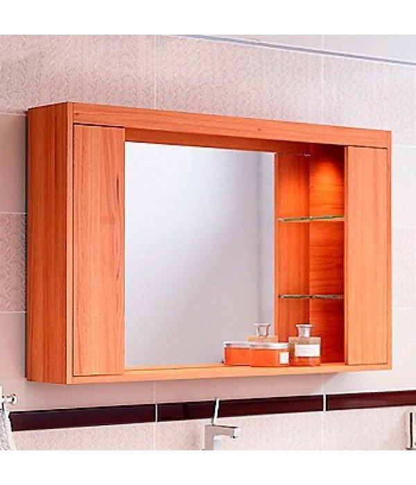 Зеркало-шкаф EcoGreen Эллис 105, коричневый