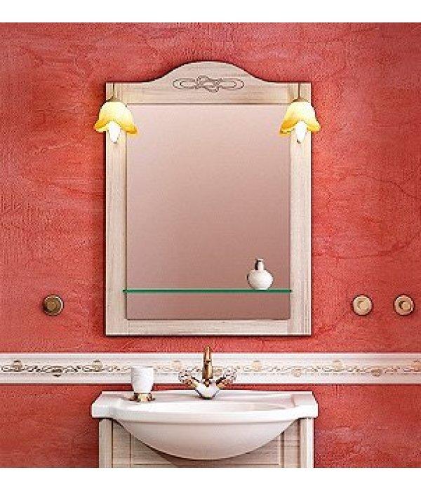 Зеркало EcoGreen Лидо 65 беленый дуб