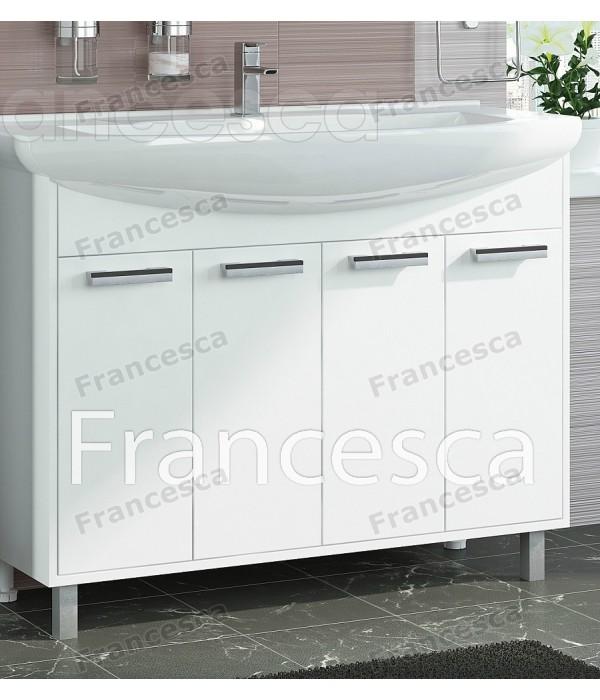 Тумба с раковиной Francesca Eco 105 белый
