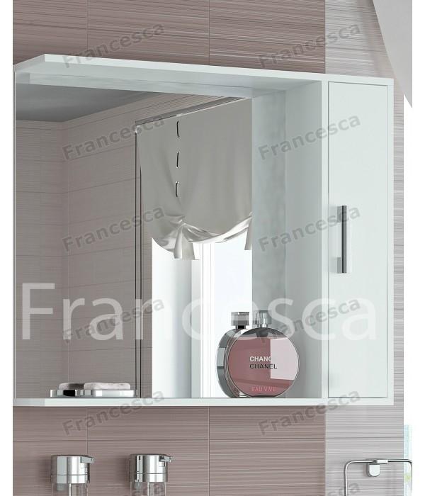 Шкаф-зеркало Francesca Eco 85 белый